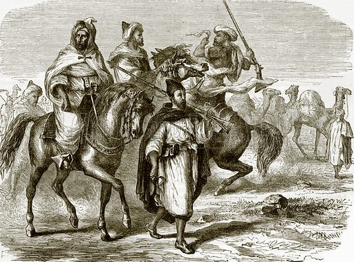 Start of a Caravan. All Round the World, First Series (1868).