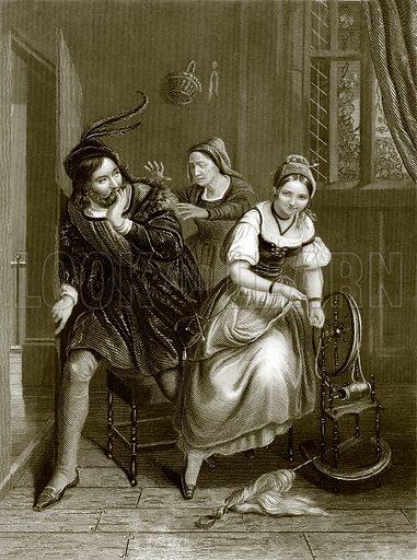 The blind mother. Payne's Universum (1847).