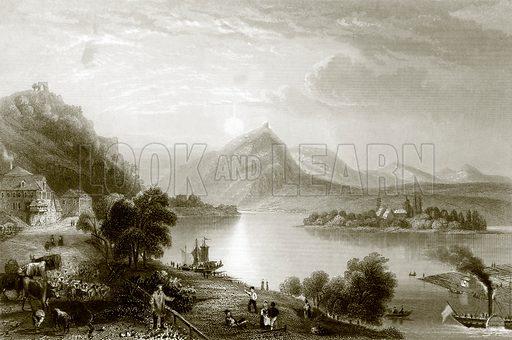 Drachenfels. Payne's Universum (1847).