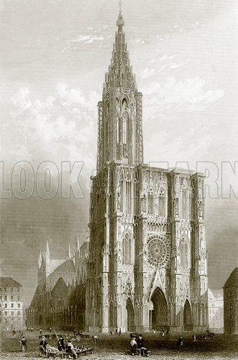 Strasburg cathedral. Payne's Universum (1847).