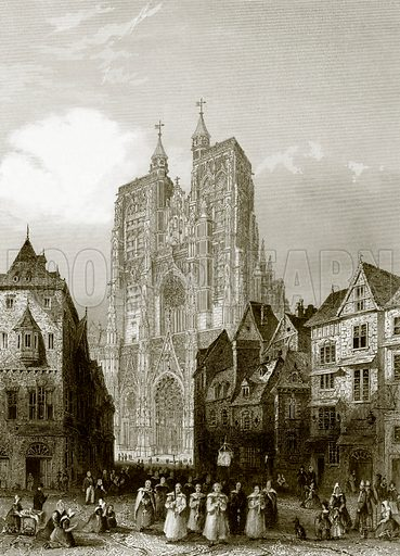 Abbeville cathedral. Payne's Universum (1847).