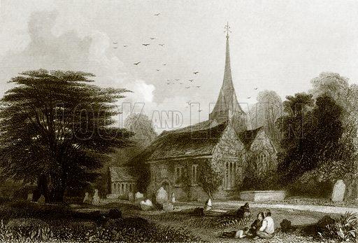 Stoke Pogis. Payne's Universum (1847).