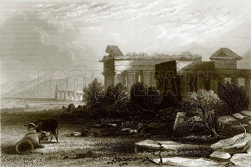 Paestum. Payne's Universum (1847).