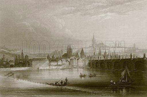 Prague. Payne's Universum (1847).