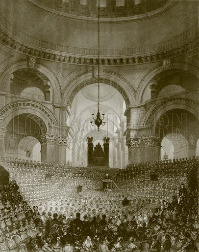 St. Paul's cathedral. Payne's Universum (1847).
