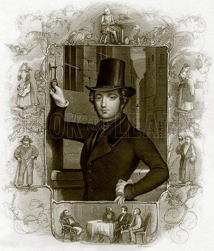Eugene Sue. Payne's Universum (1847).