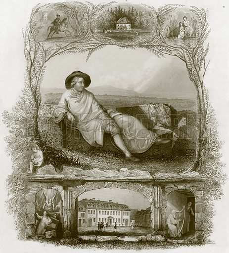 Goethe. Payne's Universum (1847).