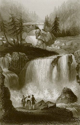 The falls of Tryberg. Payne