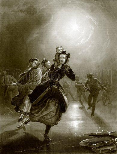 Dutch skaters. Payne's Universum (1847).