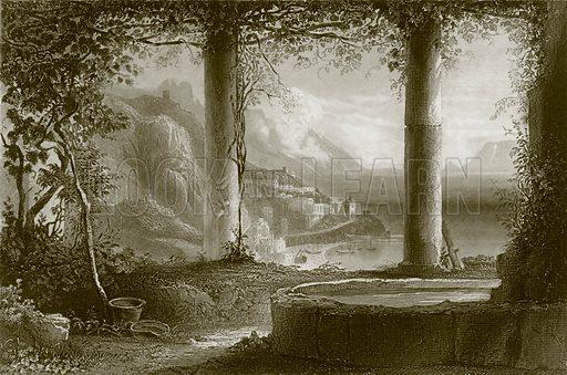 Amalfi. Payne's Universum (1847).