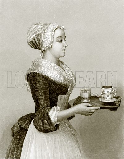 The chocolate girl. Payne's Universum (1847).