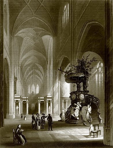 Cathedral of St. Bavon. Payne's Universum (1847).