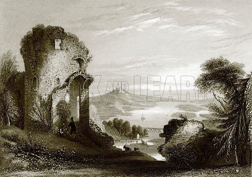 Donaustauf. Payne's Universum (1847).