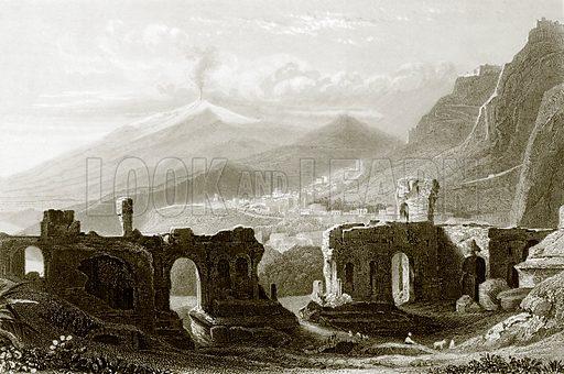 Taormina. Payne's Universum (1847).