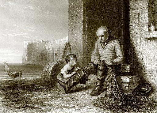 The fisherman. Payne's Universum (1847).