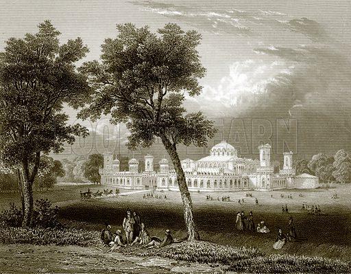 Peterskoi palace, Moscow. Payne's Universum (1847).