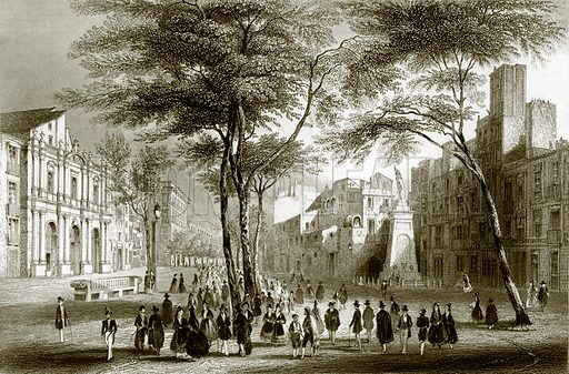 Barcelona. Payne's Universum (1847).