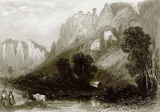 Schloss Bronnen. Payne's Universum (1847).