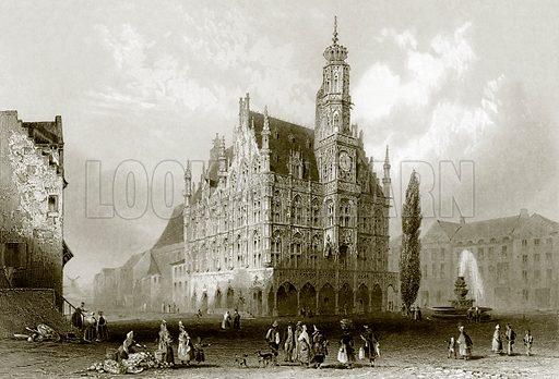 Hotel de Ville. Payne's Universum (1847).