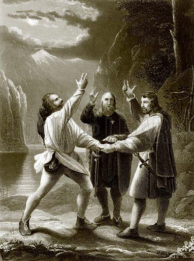 The oath of the three Swiss. Payne