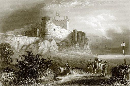 Bamborough castle. Payne's Universum (1847).