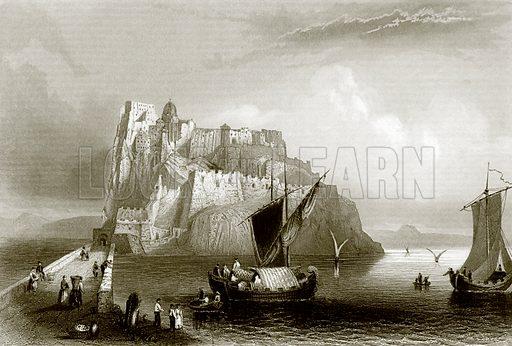 Castle Ischia. Payne's Universum (1847).