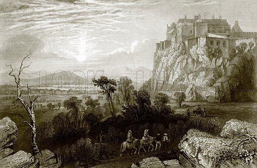 Stirling castle. Payne's Universum (1847).