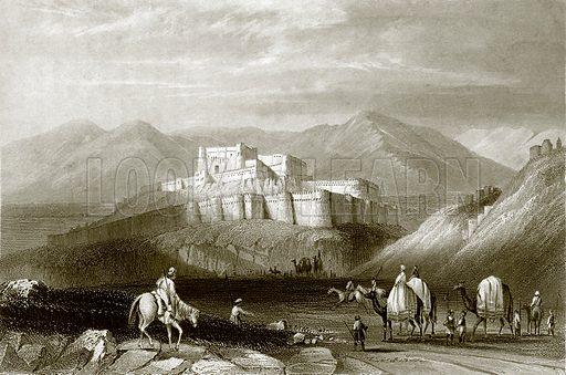 Ghuznee. Payne's Universum (1847).