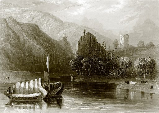 The Danube whirlpool. Payne's Universum (1847).