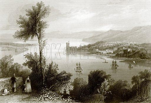 Cork river. Payne's Universum (1847).