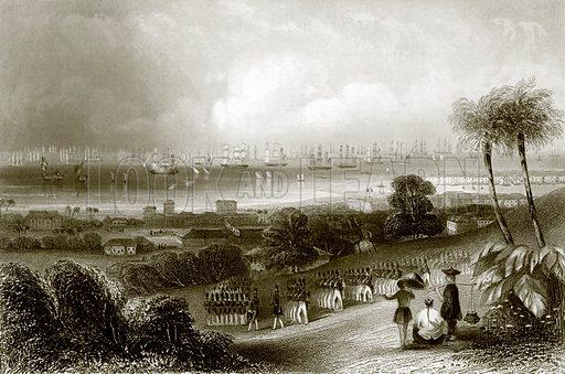 Singapore. Payne's Universum (1847).