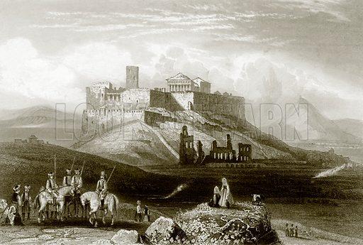 The Acropolis of Athens. Payne's Universum (1847).