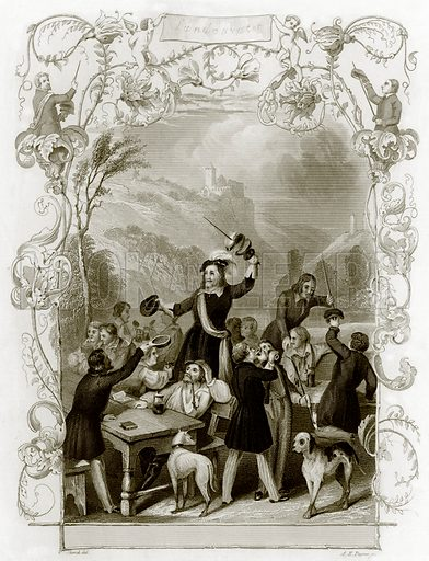 Student life in Germany. Payne's Universum (1847).