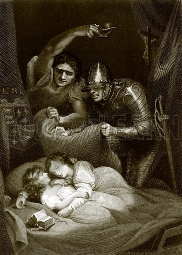 The murder of the princes in the tower. Payne's Universum (1847).