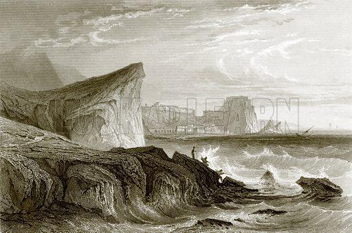 Scilla and Charybdis, Sicily. Payne's Universum (1847).