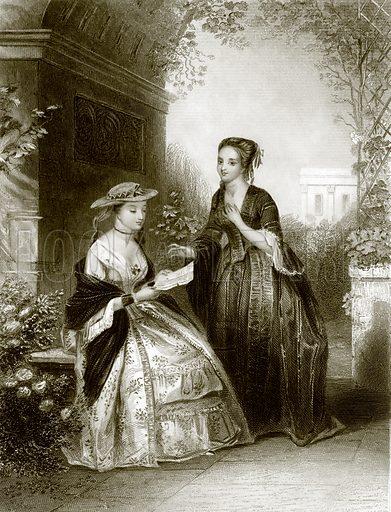 The pleasing Intelligence. Payne's Universum (1847).