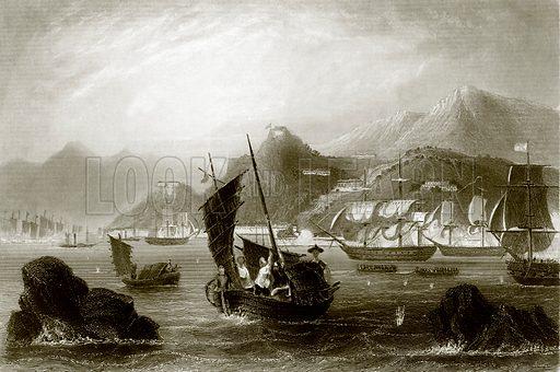 The island of Amoy. Payne's Universum (1847).