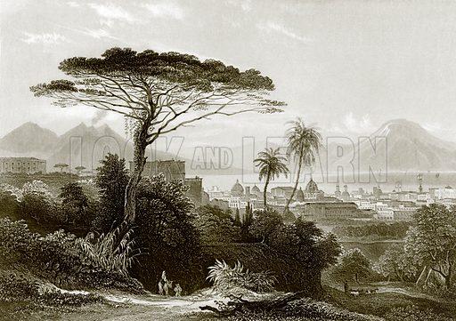 Vesuvius. Payne's Universum (1847).