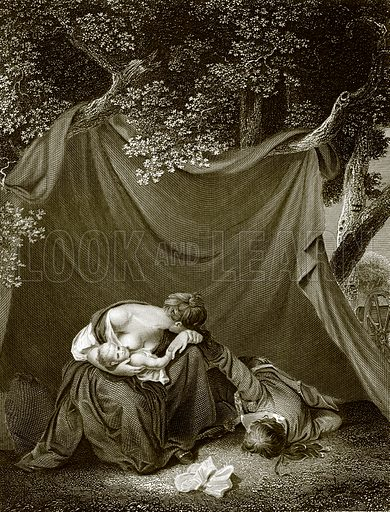 The soldier's widow. Payne's Universum (1847).