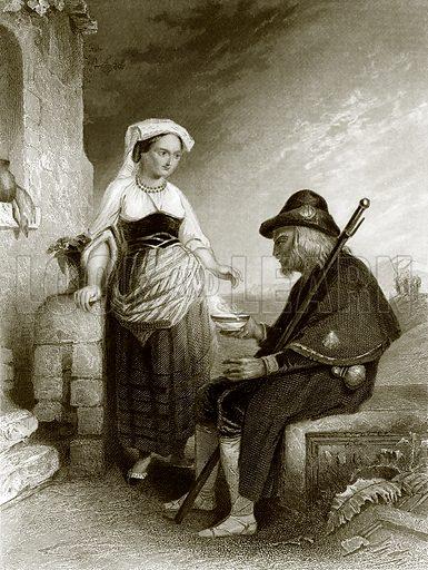 The pilgrim refreshed. Payne's Universum (1847).