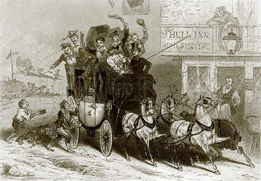 The stage coach. Payne's Universum (1847).
