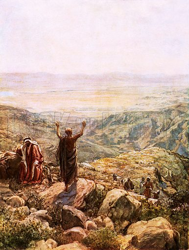 Balaam blessing Israel. William Hole, Old Testament History (Eyre and Spottiswoode, c 1925 ).