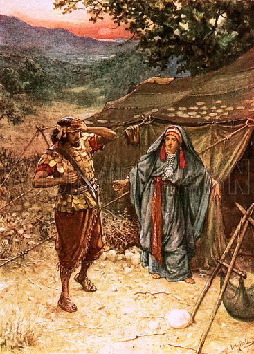 Jael and Sisera. William Hole, Old Testament History (Eyre and Spottiswoode, c 1925 ).