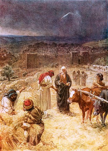 King David purchasing the threshing floor. William Hole, Old Testament History (Eyre and Spottiswoode, c 1925 ).