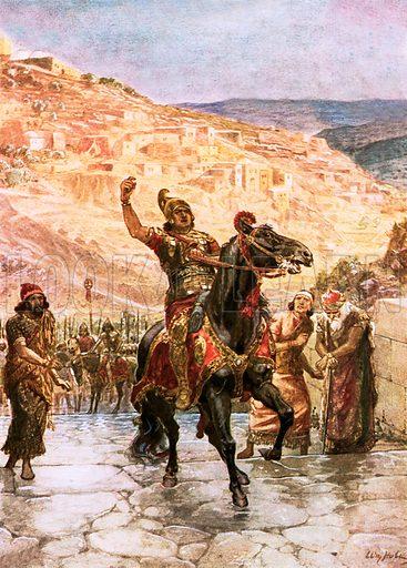 The Assyrian Rabshakeh demanding the surrender of Jerusalem. William Hole, Old Testament History (Eyre and Spottiswoode, c 1925 ).