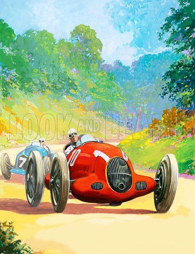 Early racing car.