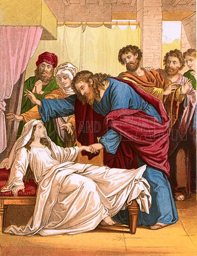 Jesus raising the ruler