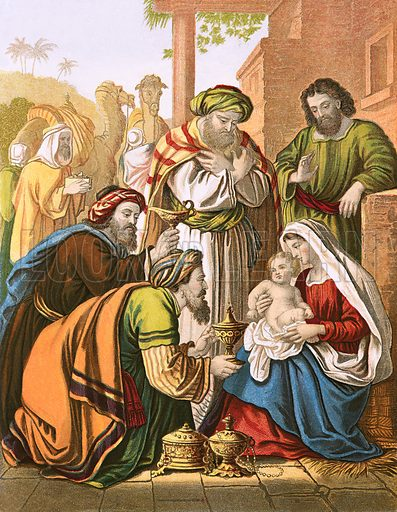 The nativity. John Fleetwood, Life of our Blessed Lord and Saviour (c 1870).