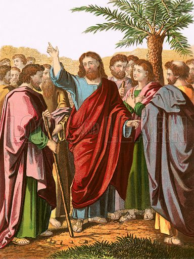 Christ sending forth his disciples. John Fleetwood, Life of our Blessed Lord and Saviour (c 1870).
