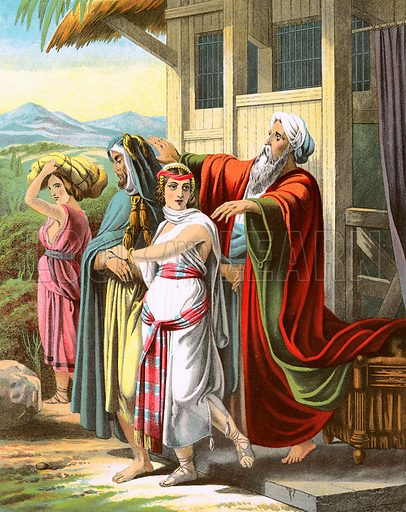 Immediate Credit Card >> Laban blessing Rebekah - Look and Learn History Picture ...